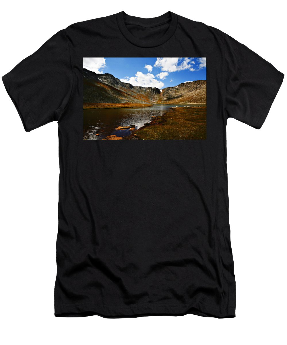 Travel Men's T-Shirt (Athletic Fit) featuring the photograph Summit Lake Colorado by Marilyn Hunt