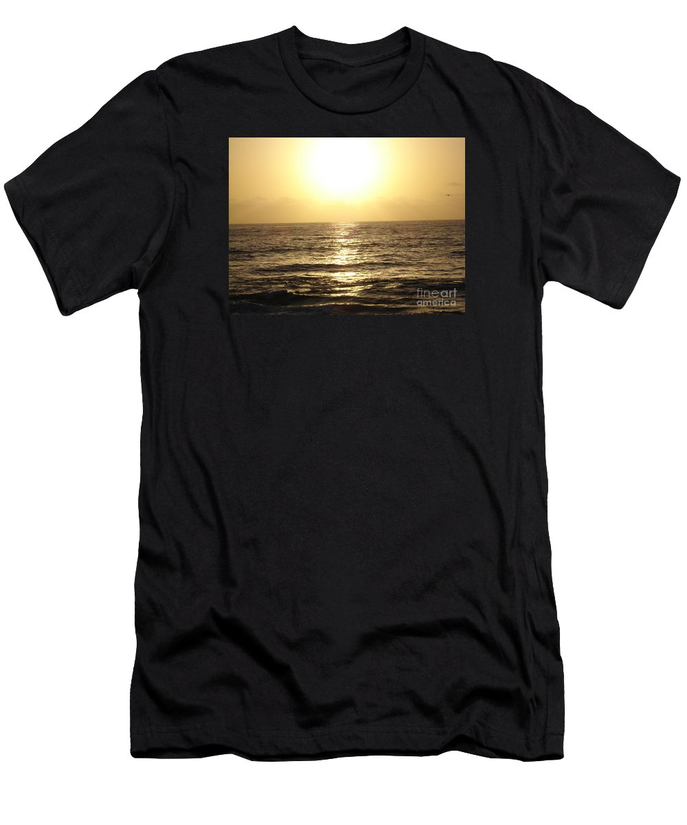 Ocean Men's T-Shirt (Athletic Fit) featuring the photograph Sun At Sea by Madilyn Fox