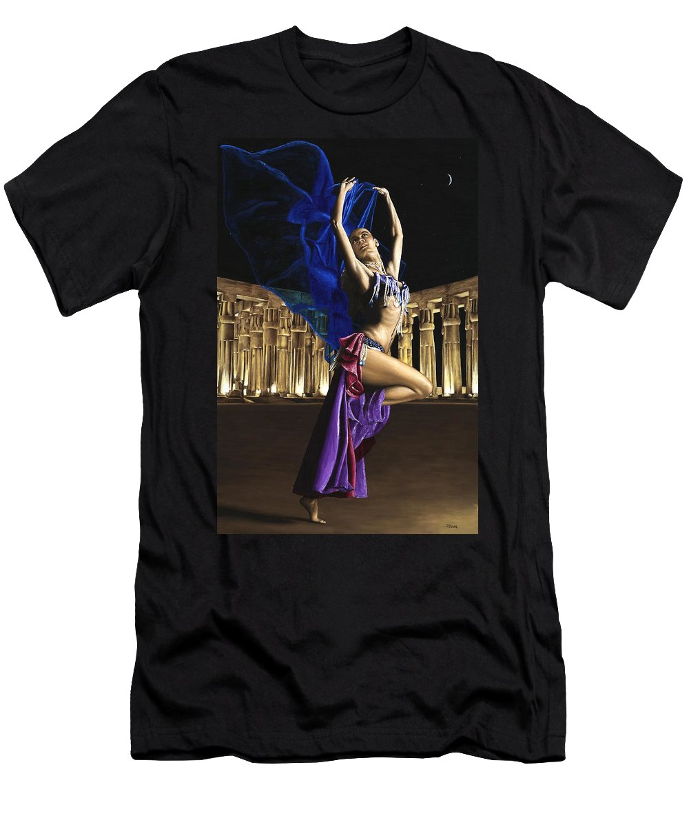 Belly Men's T-Shirt (Athletic Fit) featuring the painting Sun Court Dancer by Richard Young