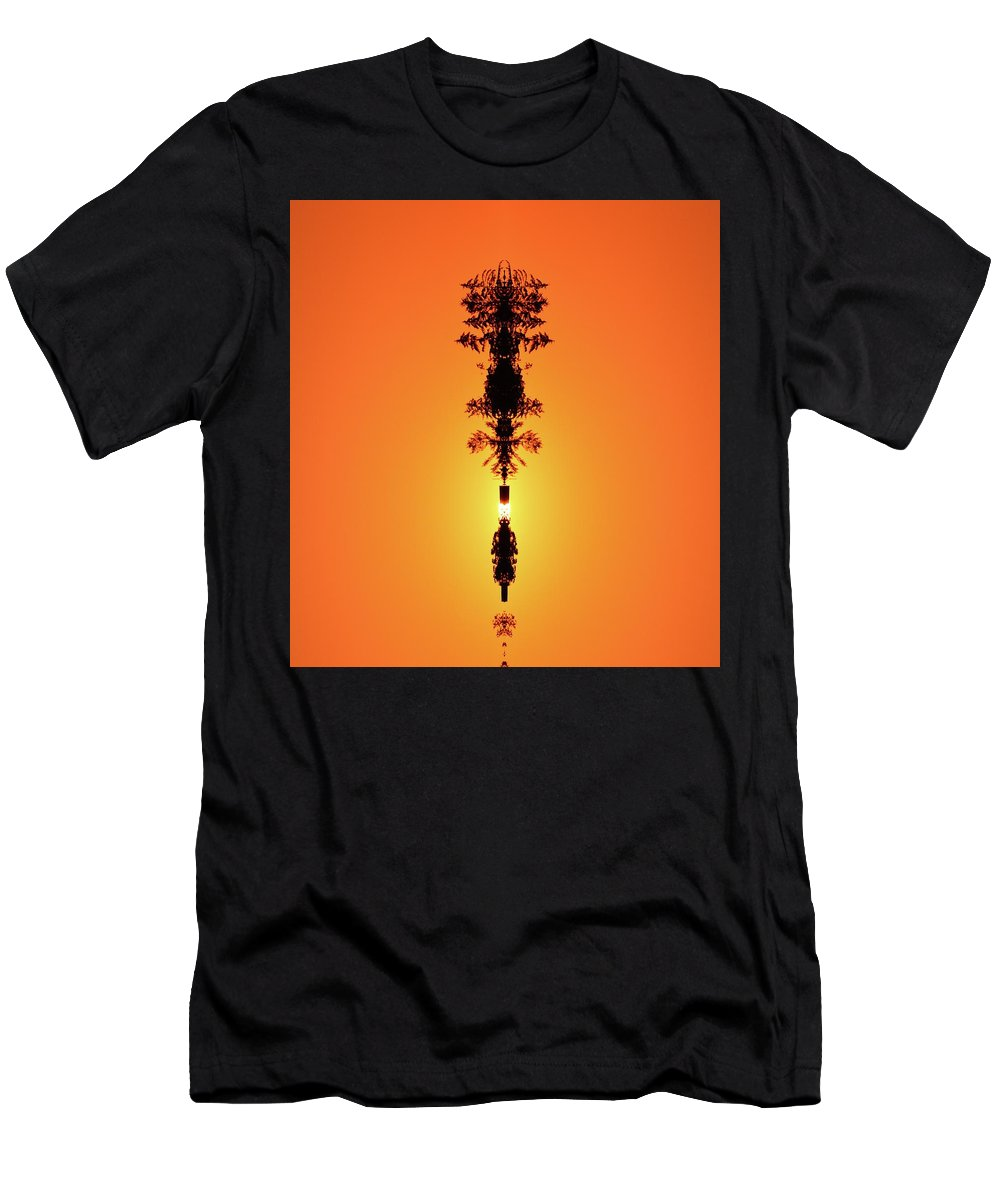 Abstract Men's T-Shirt (Athletic Fit) featuring the digital art Sun Crown Light by Lyle Crump