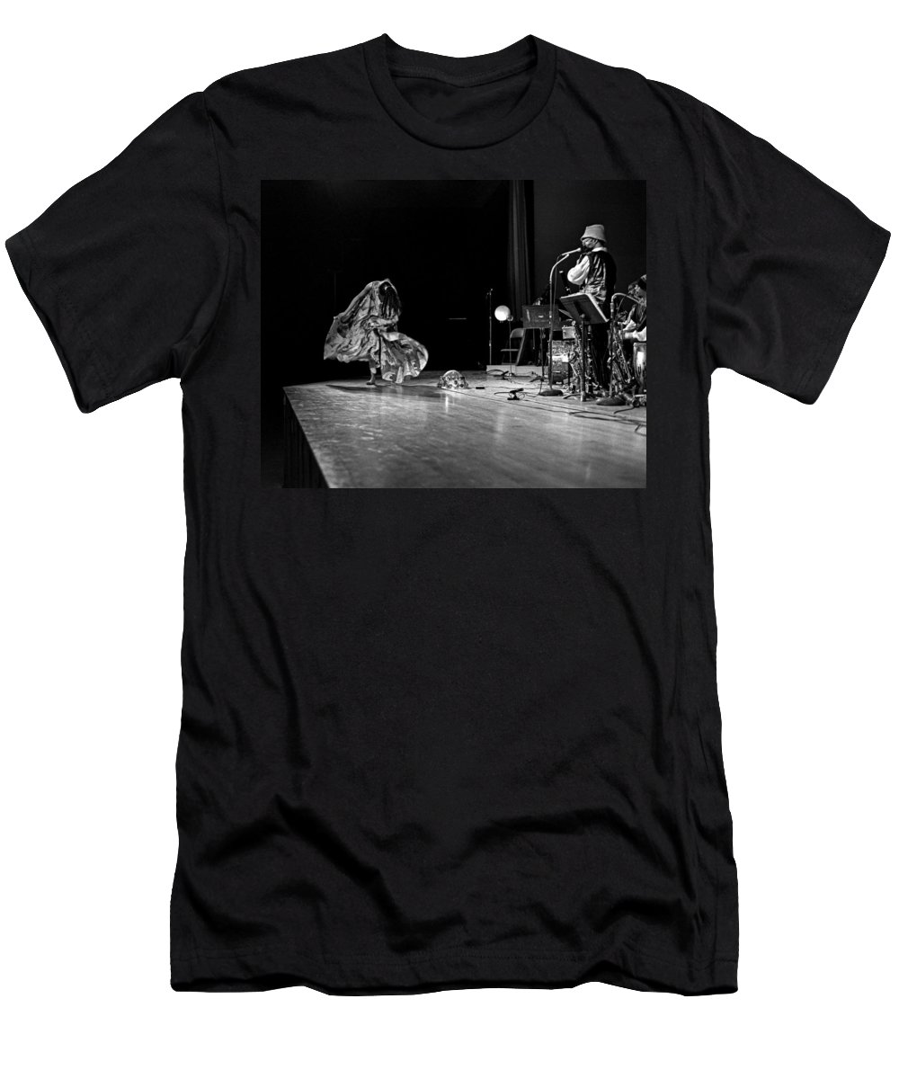 Jazz Men's T-Shirt (Athletic Fit) featuring the photograph Sun Ra Arkestra At Freeborn Hall by Lee Santa