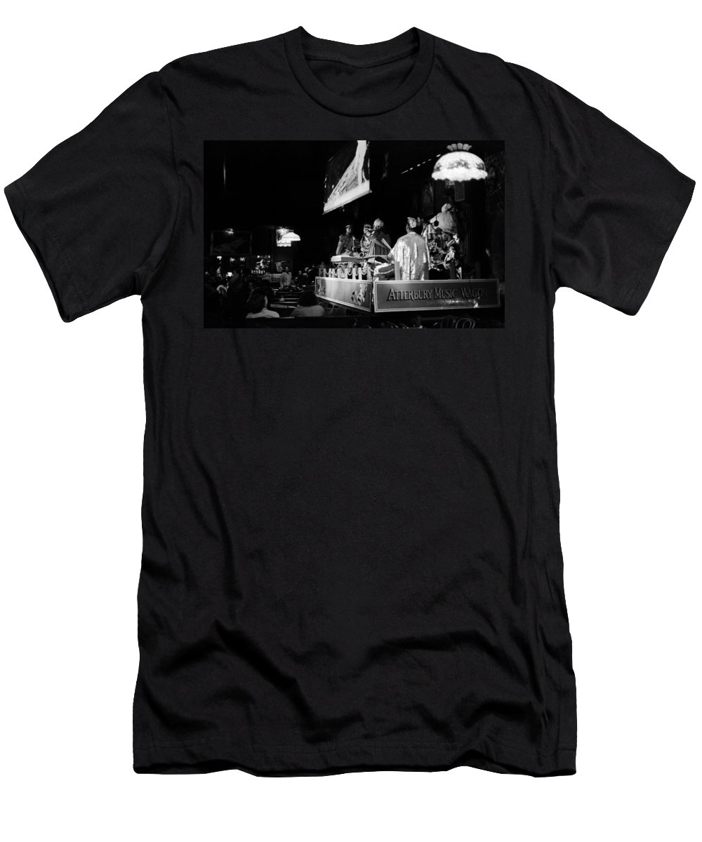 Jazz Men's T-Shirt (Athletic Fit) featuring the photograph Sun Ra Arkestra At The Red Garter 1970 Nyc 11 by Lee Santa