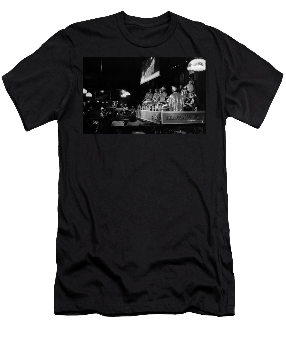 Jazz Men's T-Shirt (Athletic Fit) featuring the photograph Sun Ra Arkestra At The Red Garter 1970 Nyc 13 by Lee Santa