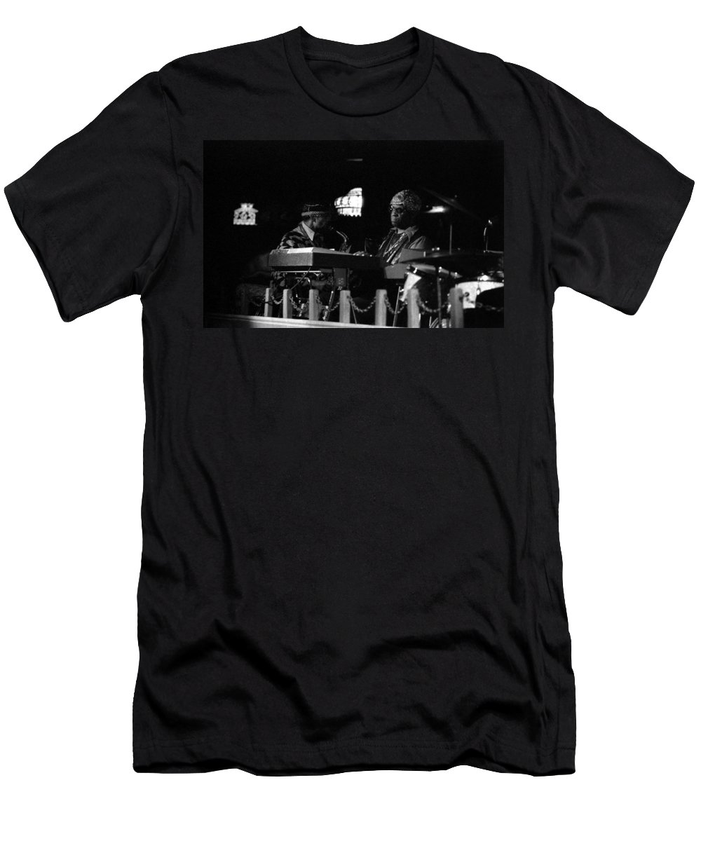 Jazz Men's T-Shirt (Athletic Fit) featuring the photograph Sun Ra Arkestra At The Red Garter 1970 Nyc 14 by Lee Santa
