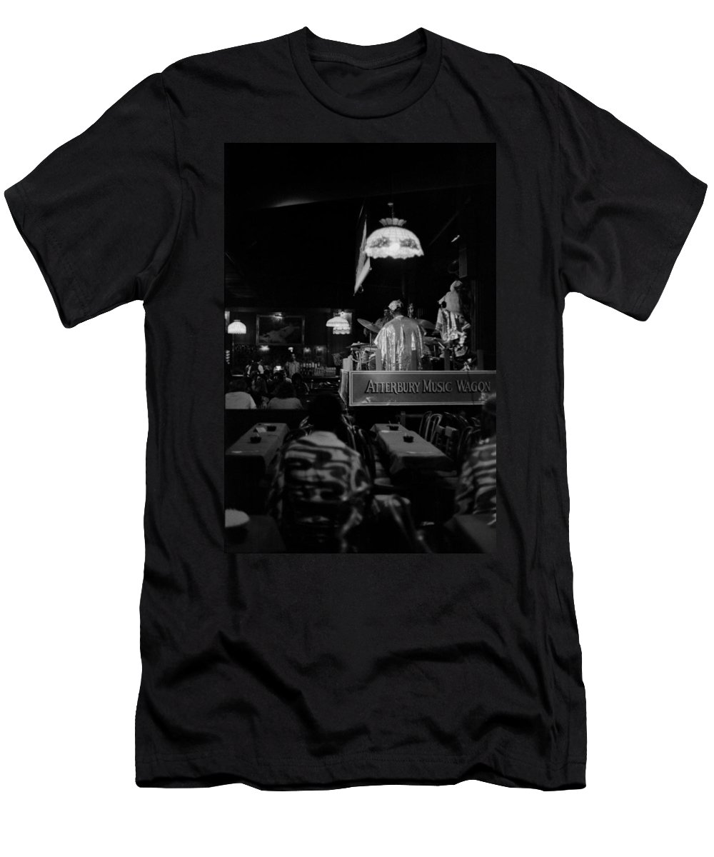 Jazz Men's T-Shirt (Athletic Fit) featuring the photograph Sun Ra Arkestra At The Red Garter 1970 Nyc 15 by Lee Santa