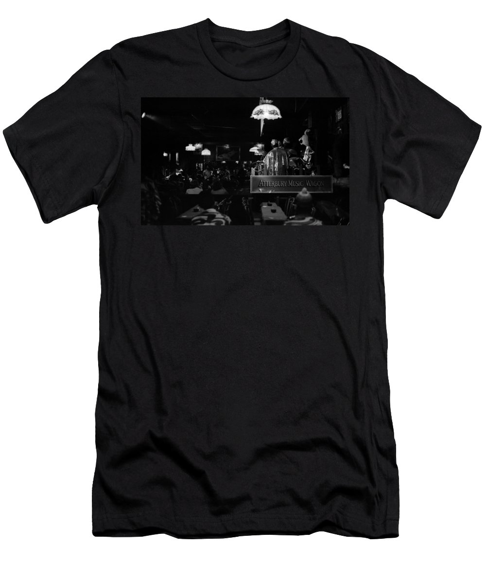Jazz Men's T-Shirt (Athletic Fit) featuring the photograph Sun Ra Arkestra At The Red Garter 1970 Nyc 16 by Lee Santa