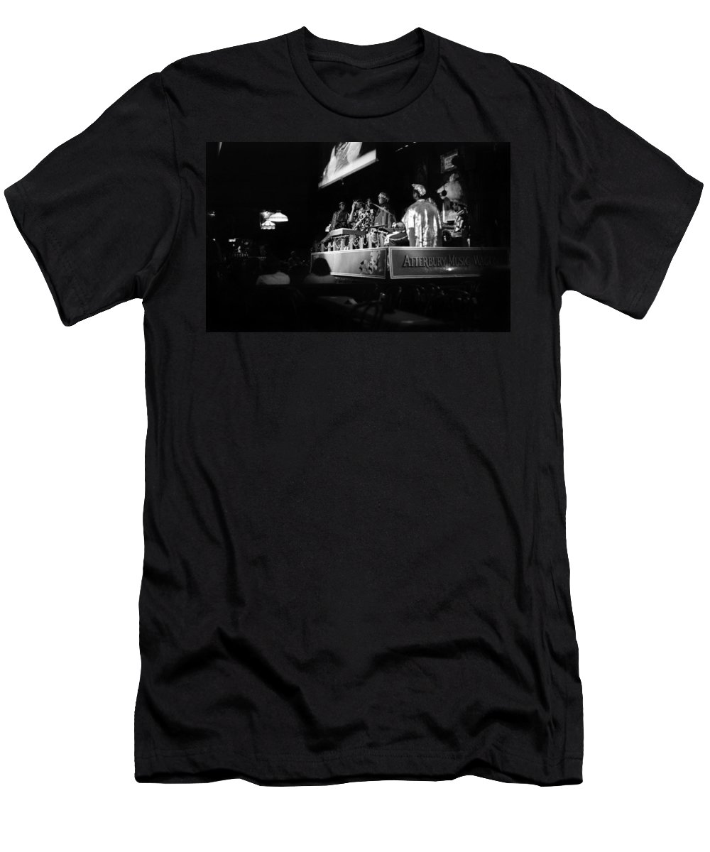 Jazz Men's T-Shirt (Athletic Fit) featuring the photograph Sun Ra Arkestra At The Red Garter 1970 Nyc 18 by Lee Santa