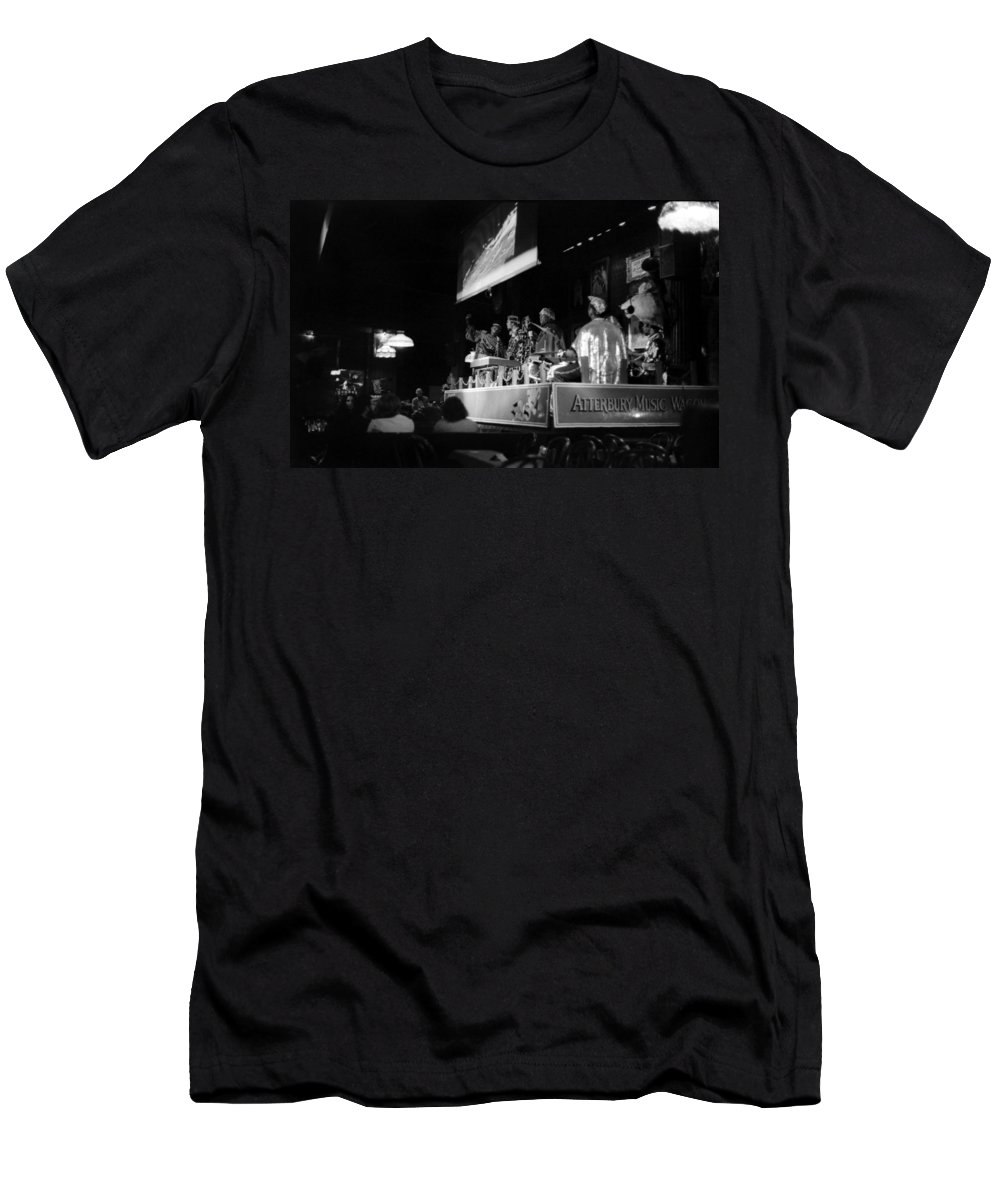 Jazz Men's T-Shirt (Athletic Fit) featuring the photograph Sun Ra Arkestra At The Red Garter 1970 Nyc 19 by Lee Santa