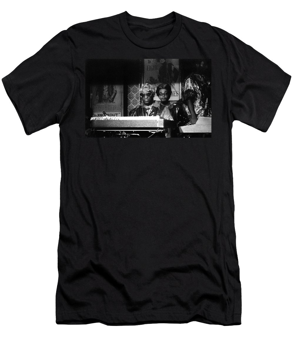 Jazz Men's T-Shirt (Athletic Fit) featuring the photograph Sun Ra Arkestra At The Red Garter 1970 Nyc 8 by Lee Santa