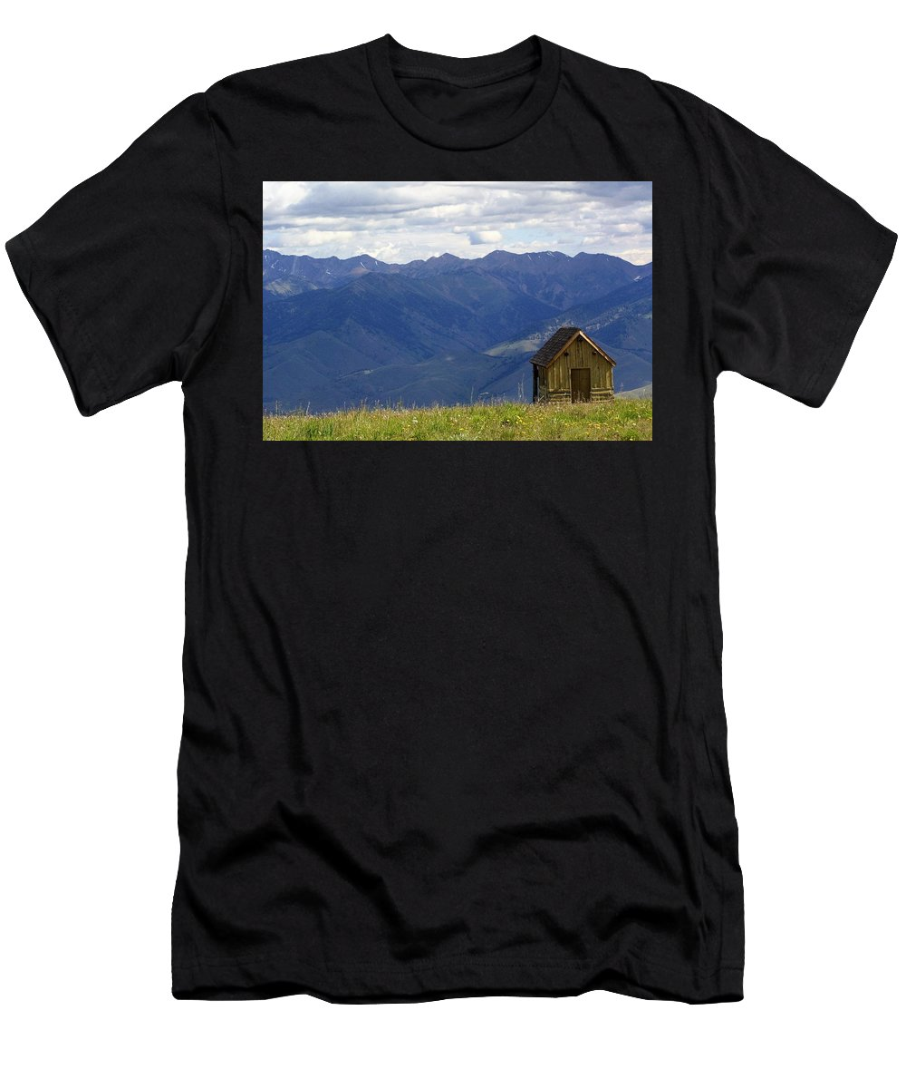 Landscape Men's T-Shirt (Athletic Fit) featuring the photograph Sun Valley by Lisa Spero