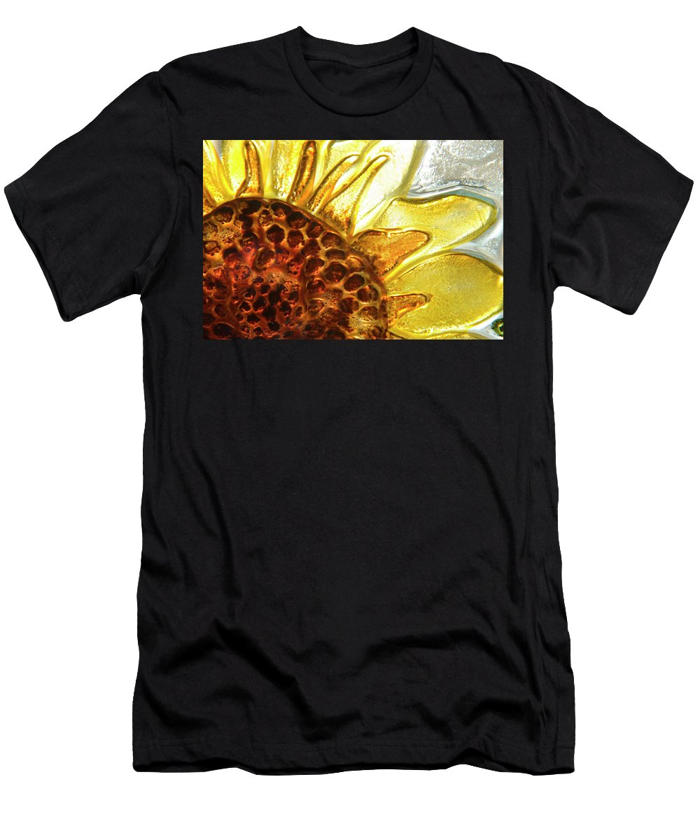 Sun Men's T-Shirt (Athletic Fit) featuring the photograph Sunburst Sunflower by Jerry McElroy