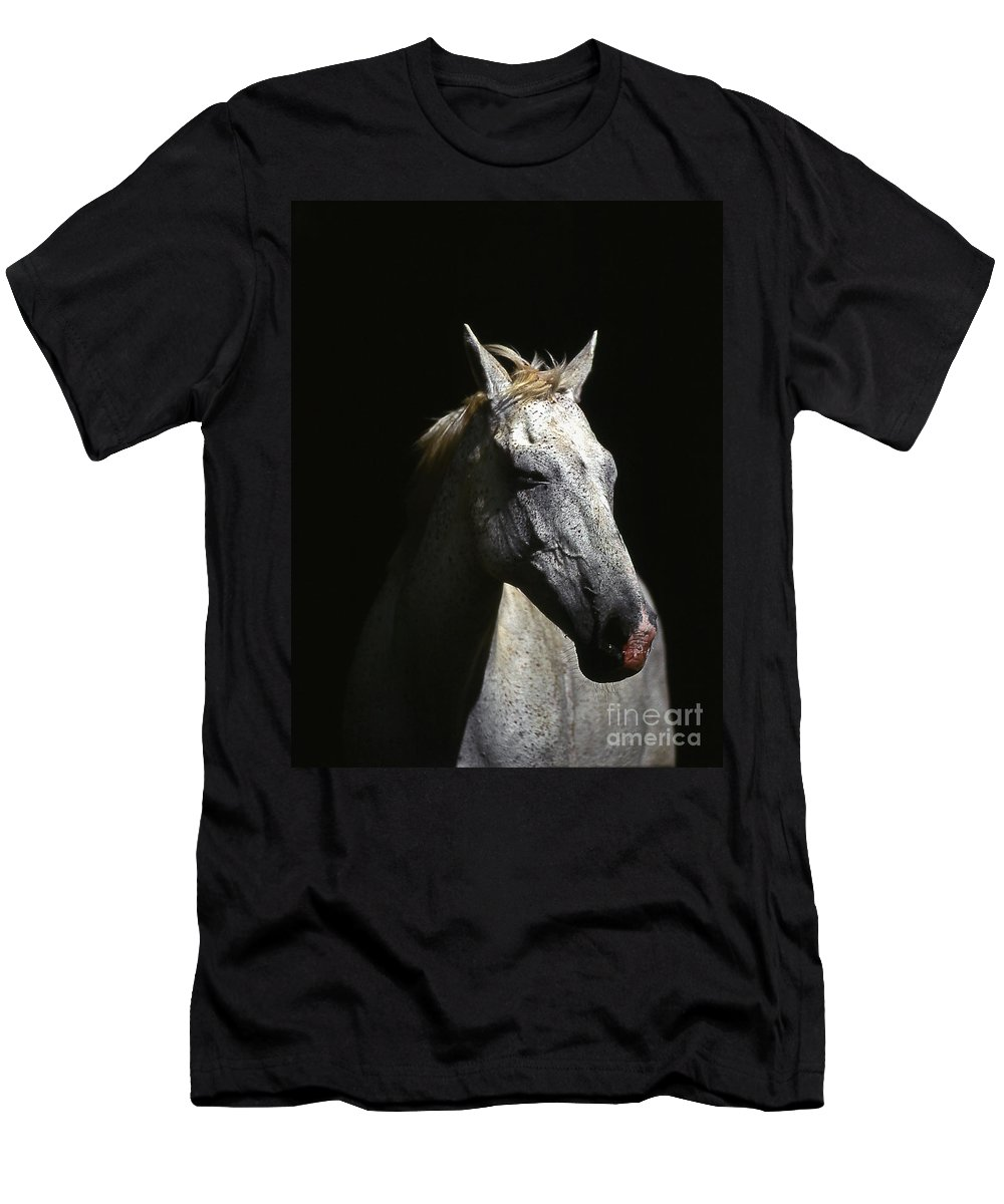 Horse Men's T-Shirt (Athletic Fit) featuring the photograph Sundance by Jim Cazel