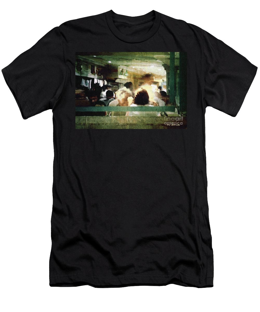People Men's T-Shirt (Athletic Fit) featuring the painting Sunday Dinner Gotham by RC DeWinter