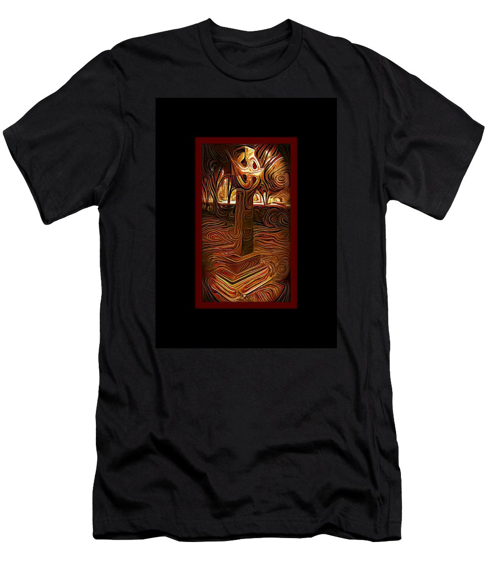 Sunday Mourning Men's T-Shirt (Athletic Fit) featuring the painting Sunday Mourning by Darin Baker