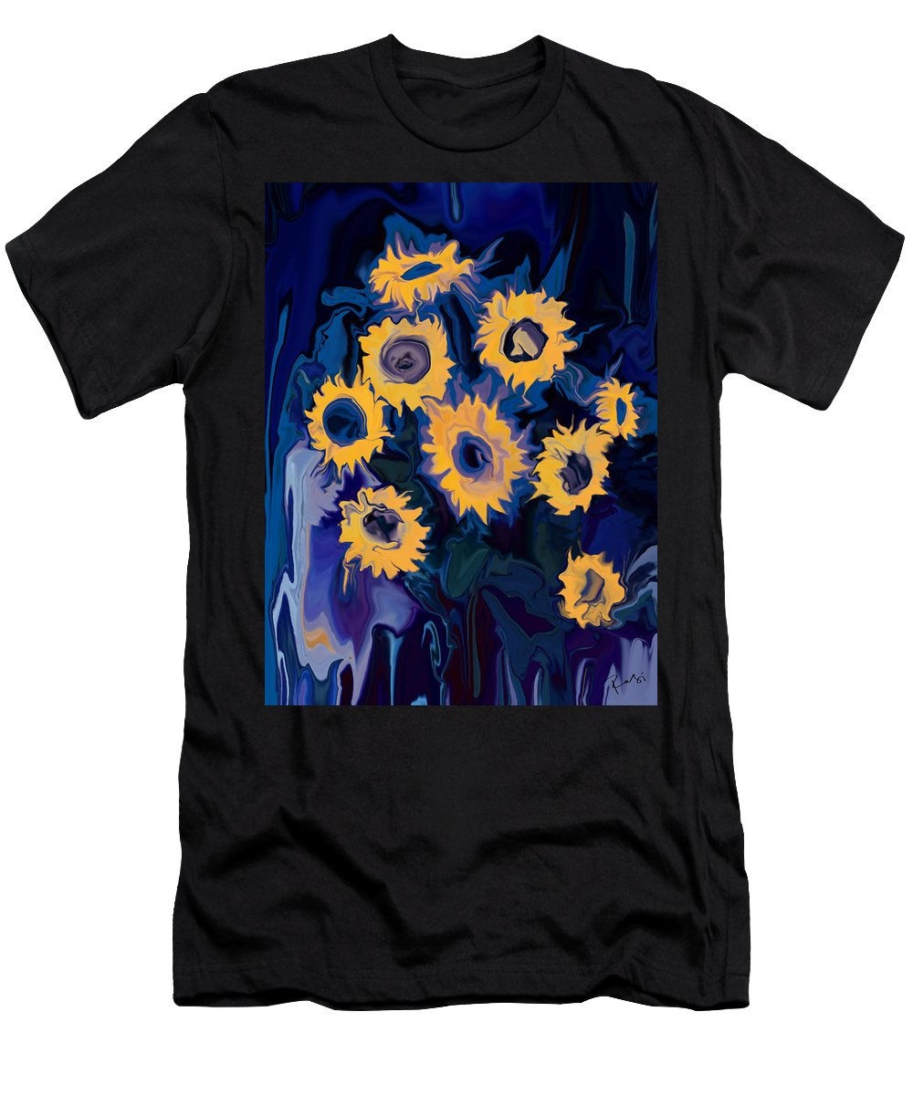 Art Men's T-Shirt (Athletic Fit) featuring the digital art Sunflower 1 by Rabi Khan