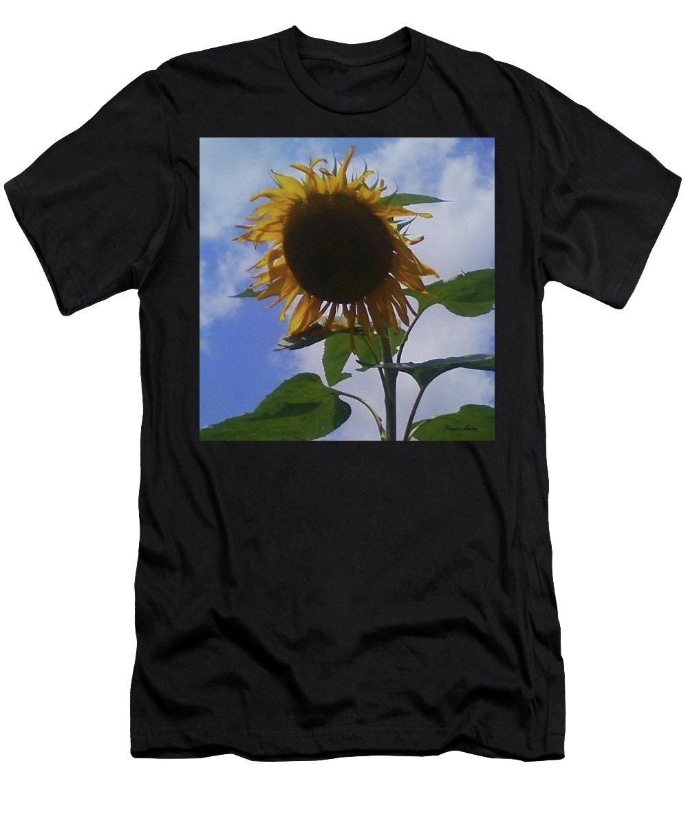 Men's T-Shirt (Athletic Fit) featuring the photograph Sunflower by Donna Martin