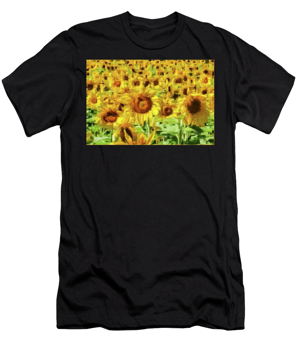 Alicegipsonphotographs Men's T-Shirt (Athletic Fit) featuring the photograph Sunflower Edges by Alice Gipson