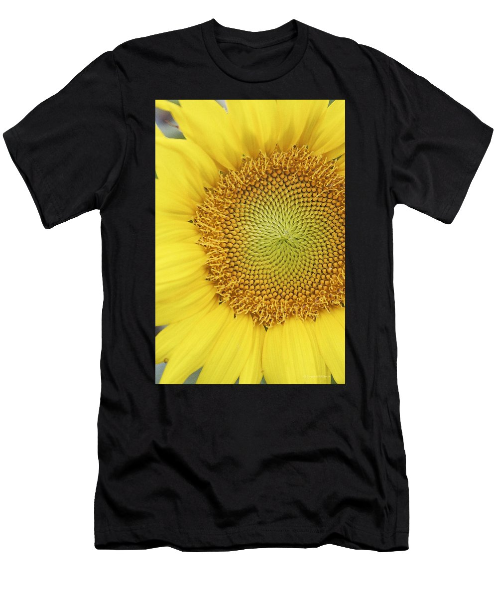 Sunflower Men's T-Shirt (Athletic Fit) featuring the photograph Sunflower by Margie Wildblood