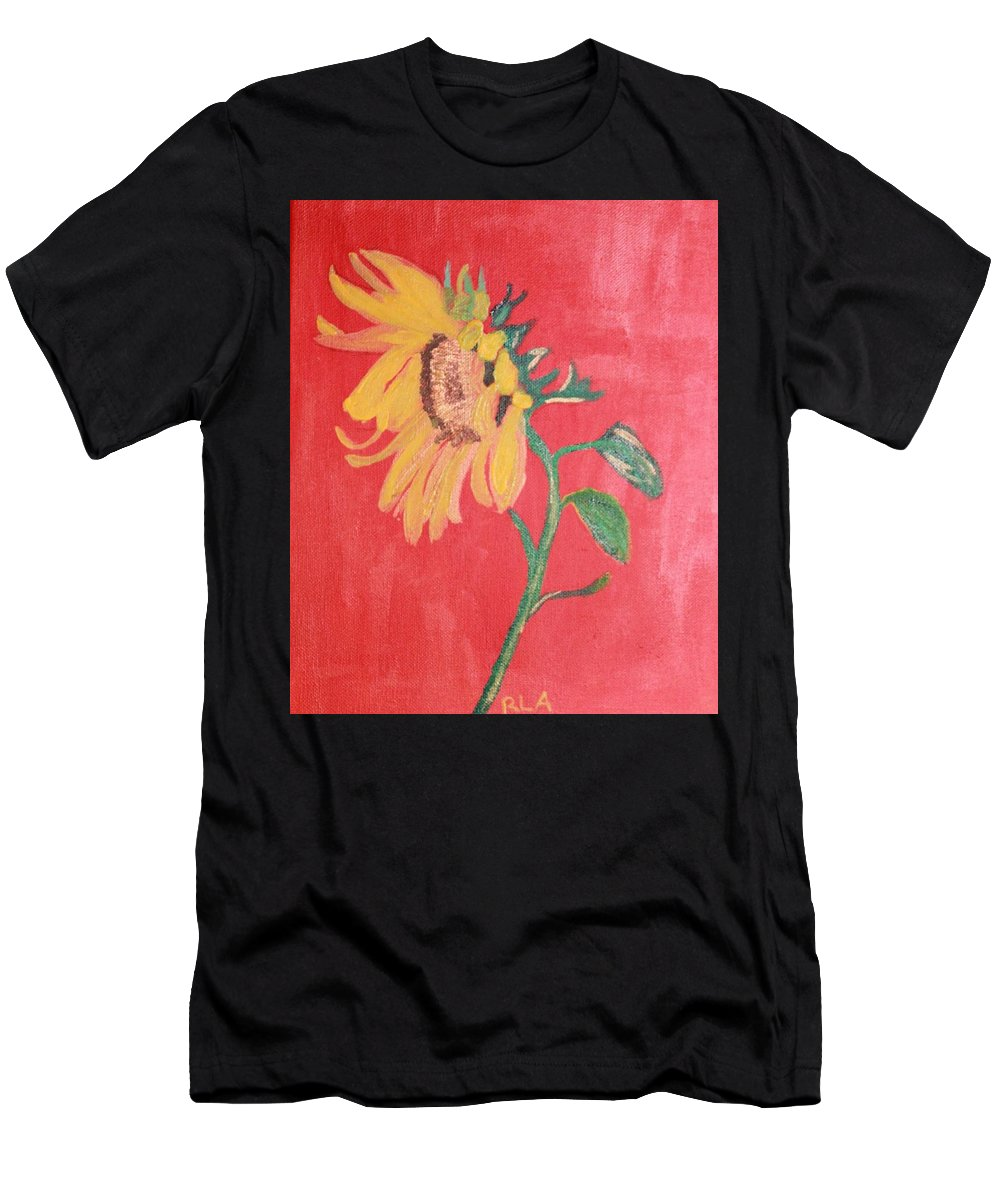 Acrylic Men's T-Shirt (Athletic Fit) featuring the painting Sunflower by Rebekah Amick