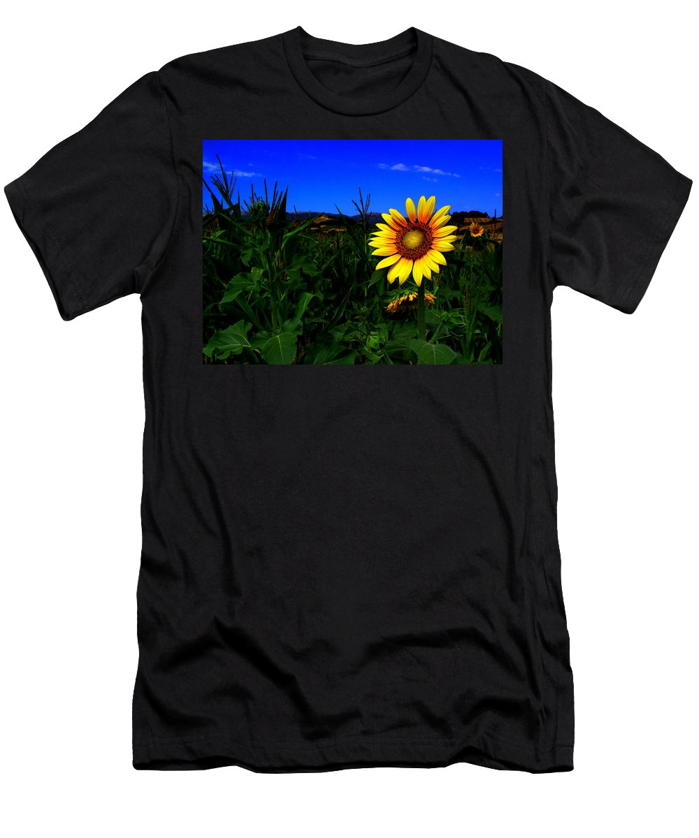 Flower Men's T-Shirt (Athletic Fit) featuring the photograph Sunflower by Silvia Ganora
