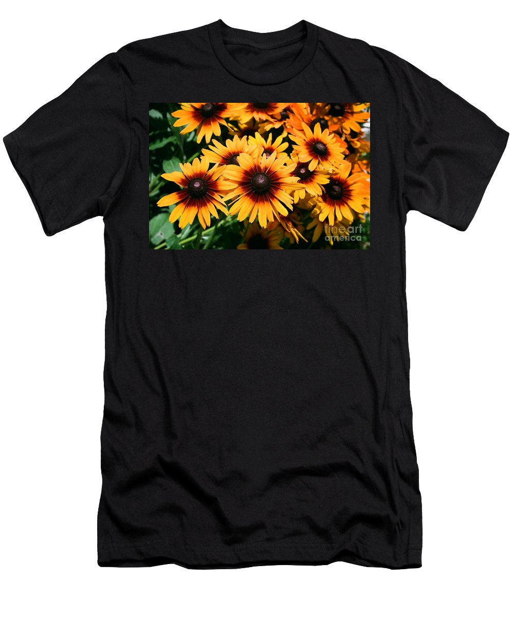 Sunflowers Men's T-Shirt (Athletic Fit) featuring the photograph Sunflowers by Dean Triolo