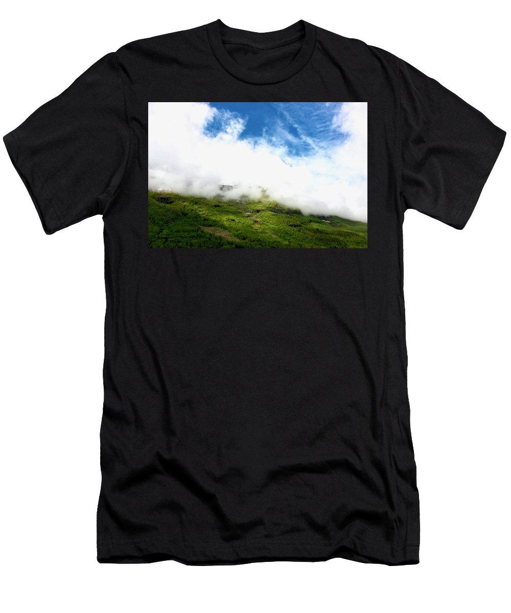 Hills Men's T-Shirt (Athletic Fit) featuring the photograph Sunlit Hillside by Lexi Heft
