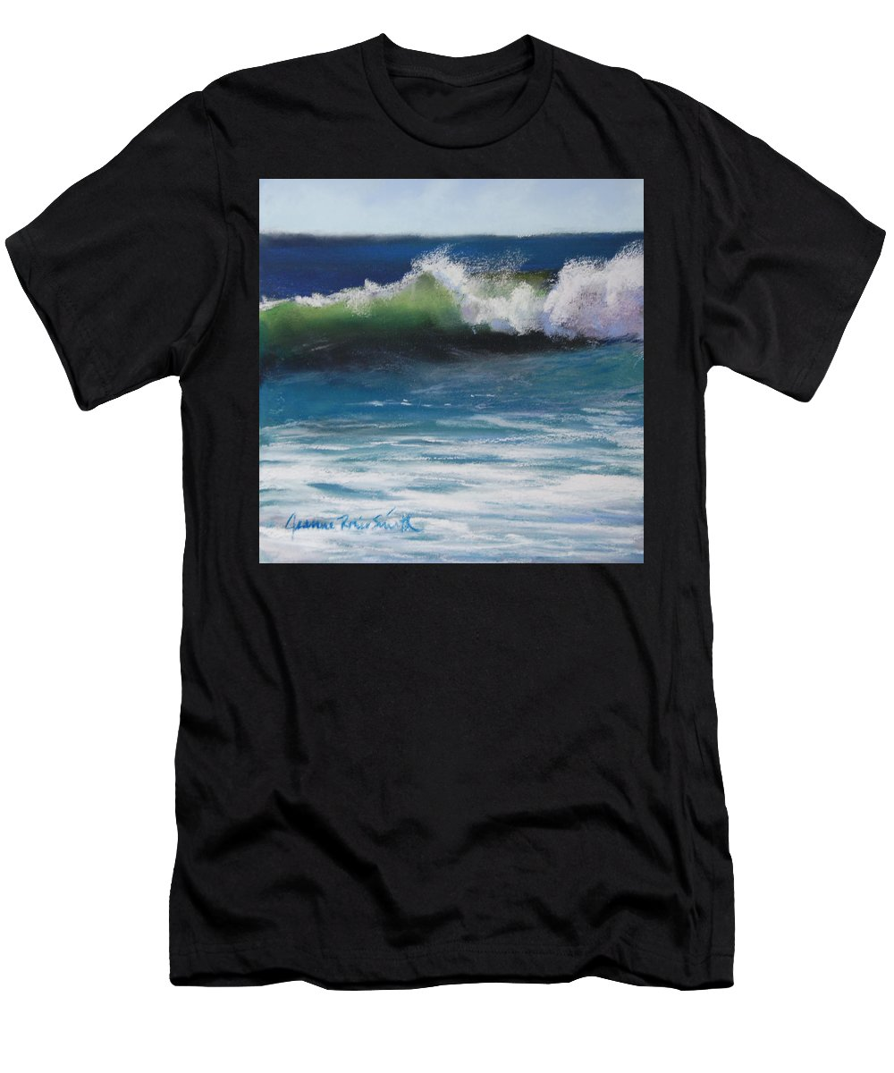 Wave Men's T-Shirt (Athletic Fit) featuring the pastel Sunny Day by Jeanne Rosier Smith
