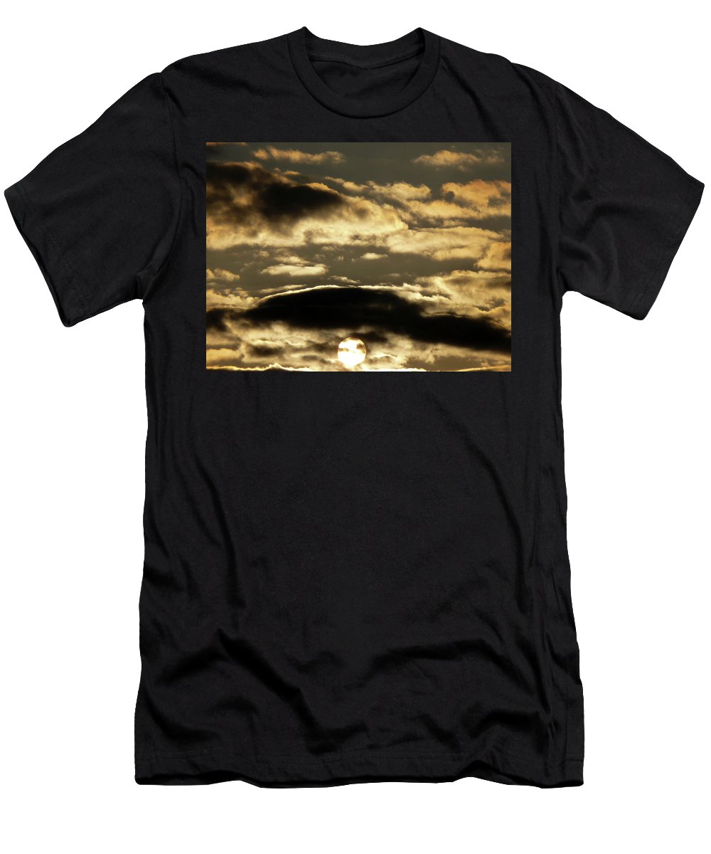 Sun Men's T-Shirt (Athletic Fit) featuring the photograph Sunny With Chance Of Clouds by Vm Vassolo