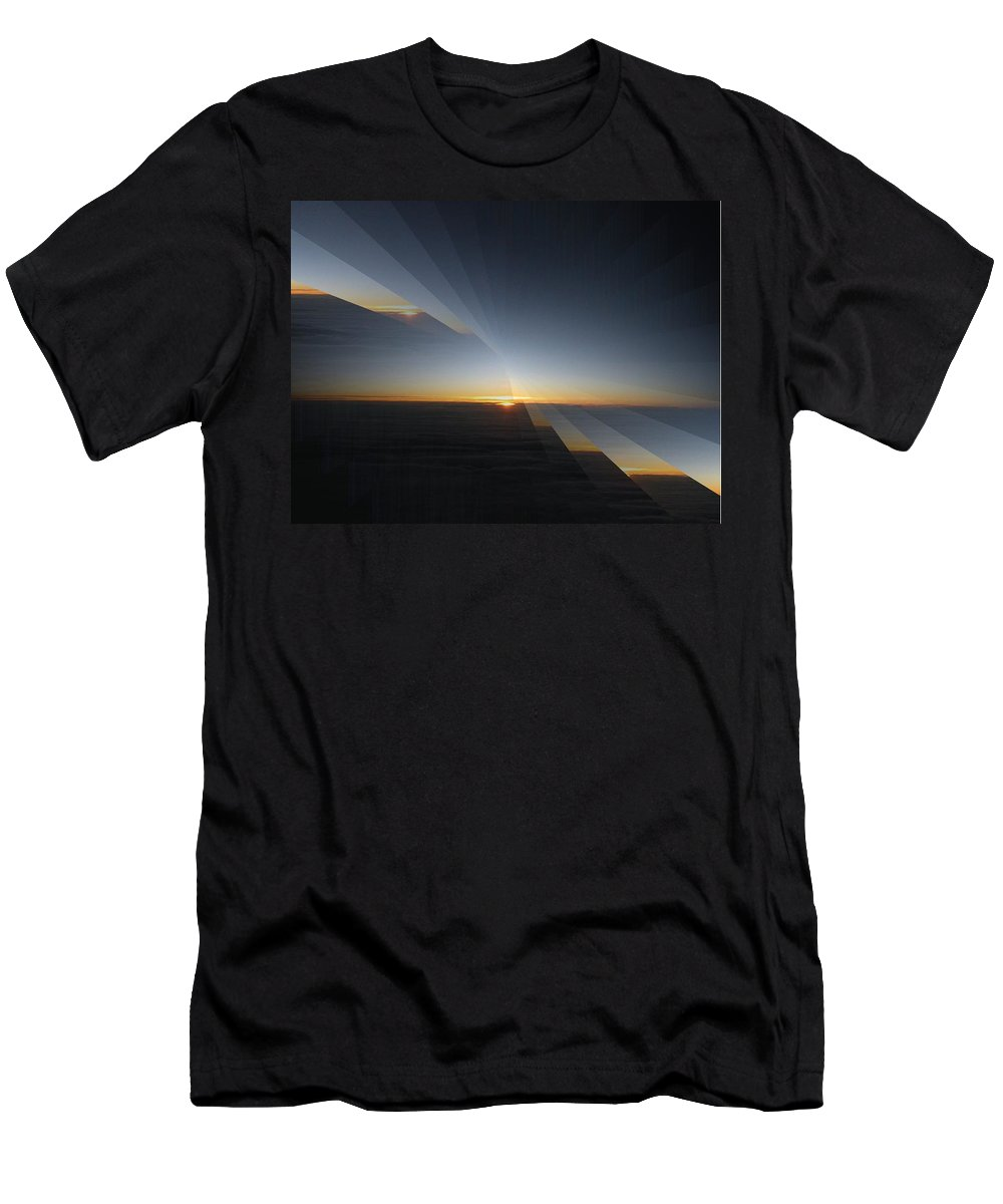 Sunrise Men's T-Shirt (Athletic Fit) featuring the photograph Sunrise At 30k 4 by Tim Allen