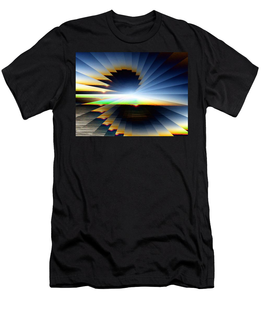 Sunrise Men's T-Shirt (Athletic Fit) featuring the photograph Sunrise At 30k 6 by Tim Allen