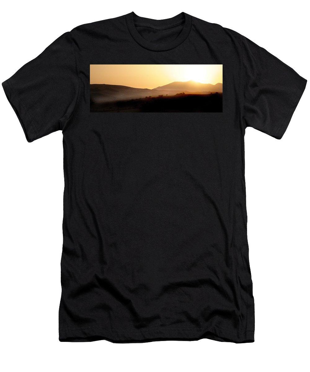 Landscape Men's T-Shirt (Athletic Fit) featuring the photograph Sunrise At Pastelero Near Villanueva De La Concepcion Malaga Region Spain by Mal Bray