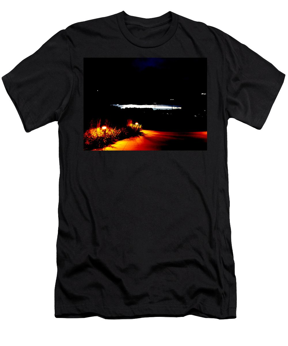 Sunrise Men's T-Shirt (Athletic Fit) featuring the photograph Sunrise Darkness by John Bichler