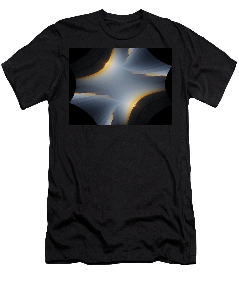Sunrise Men's T-Shirt (Athletic Fit) featuring the digital art Sunrise In Fractal by Tim Allen