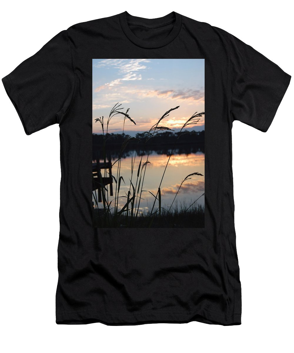 Sunrise Men's T-Shirt (Athletic Fit) featuring the photograph Sunrise In Grayton 3 by Robert Meanor