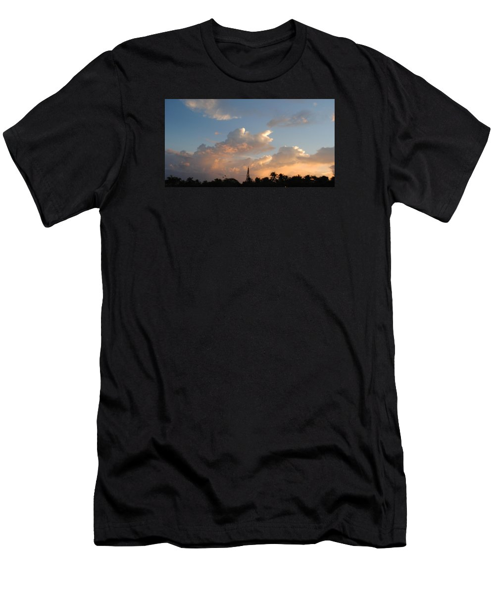 Beautiful Photo Of A November Cloudy Sunrise In Sosua Men's T-Shirt (Athletic Fit) featuring the photograph Sunrise In Sosua, Dr by Fiona Dinali