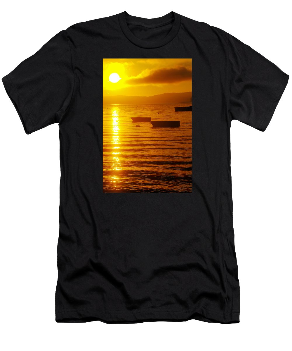 Hood Canal Men's T-Shirt (Athletic Fit) featuring the photograph Sunrise Near Liliwaup by Jeff Swan