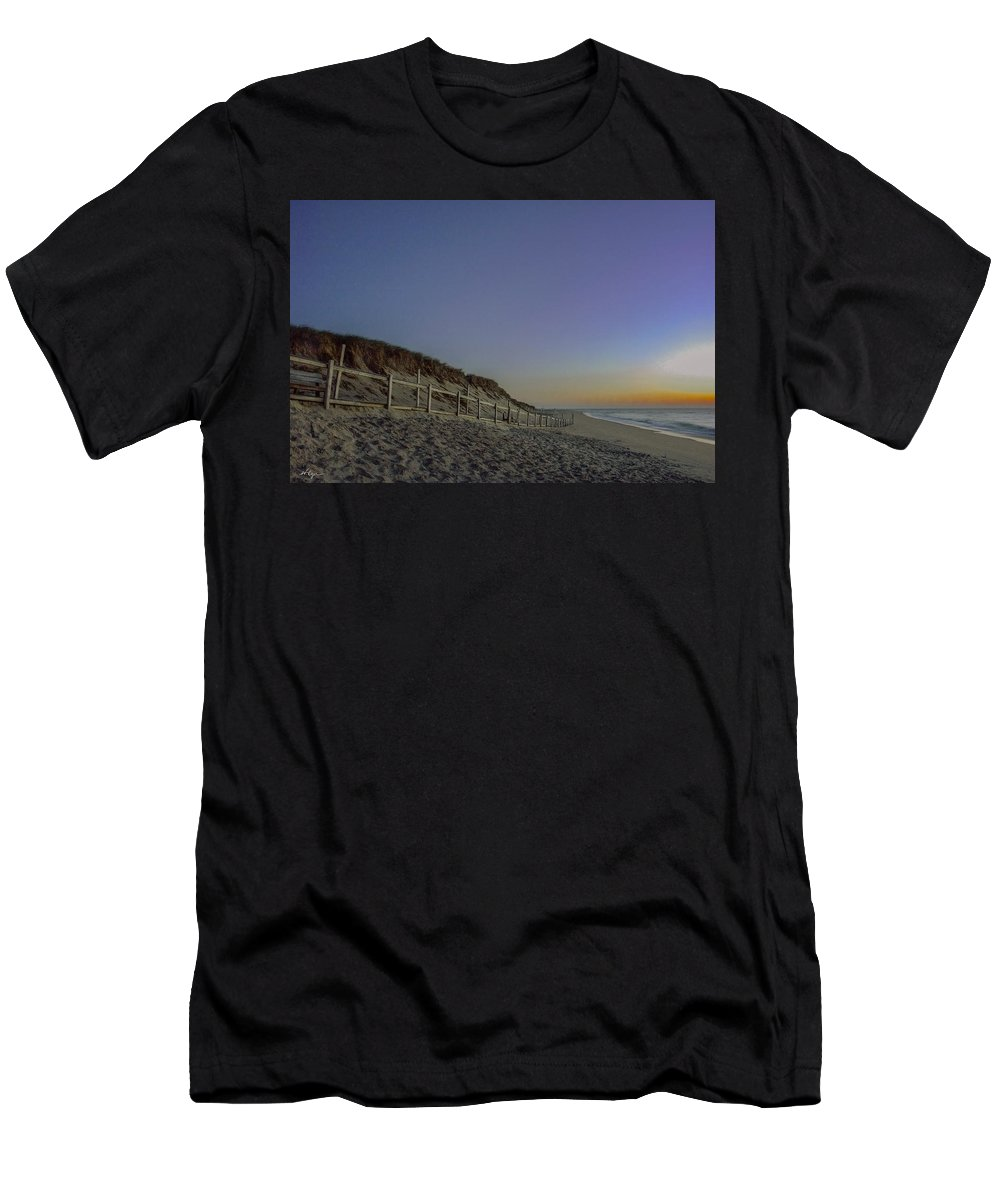 Cape Cod Men's T-Shirt (Athletic Fit) featuring the photograph Sunrise On Nauset by William Alger