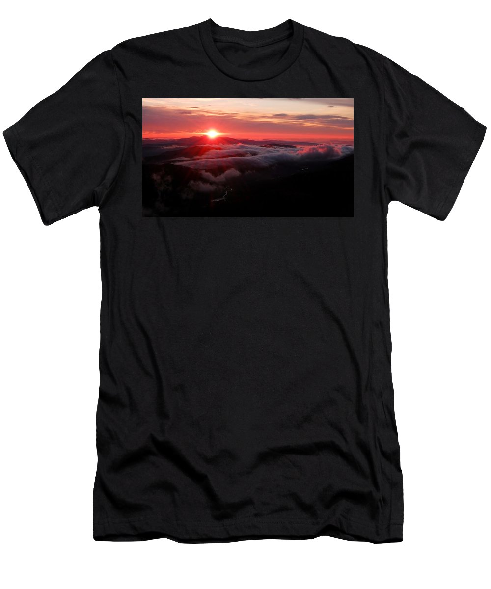 Sunrise Men's T-Shirt (Athletic Fit) featuring the photograph Sunrise Over Wyvis by Gavin Macrae