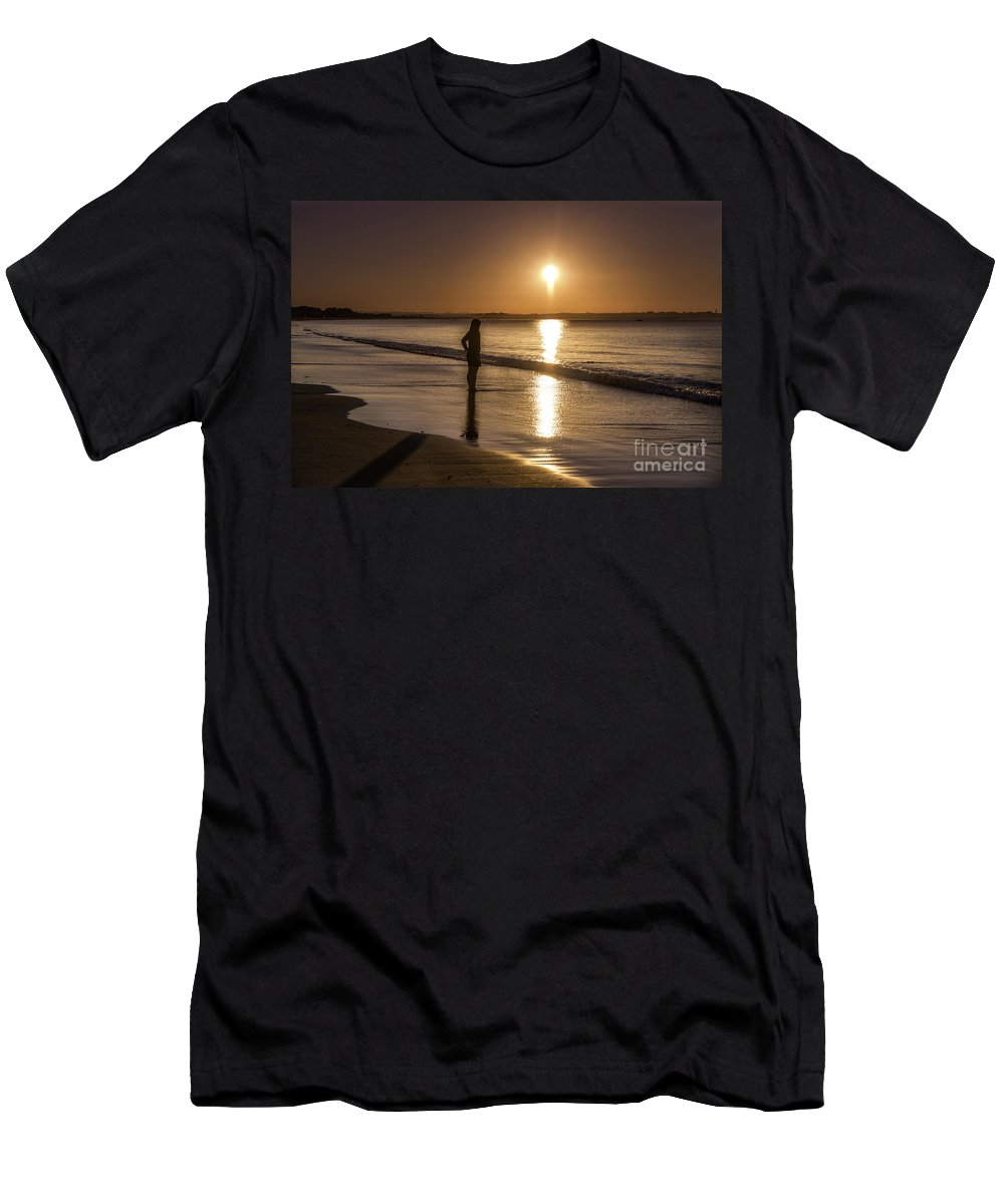 Landscape Men's T-Shirt (Athletic Fit) featuring the photograph Sunrise by Pat Clifford