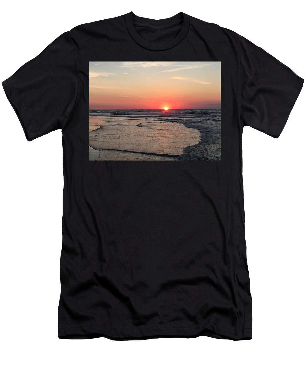 Serenity Men's T-Shirt (Athletic Fit) featuring the photograph Sunrise Serenity by Jeanette Conrad