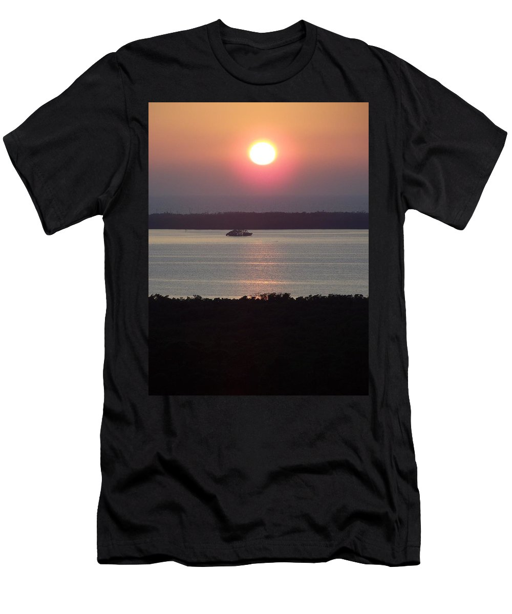 Sunset Men's T-Shirt (Athletic Fit) featuring the photograph Sunset 0009 by Laurie Paci