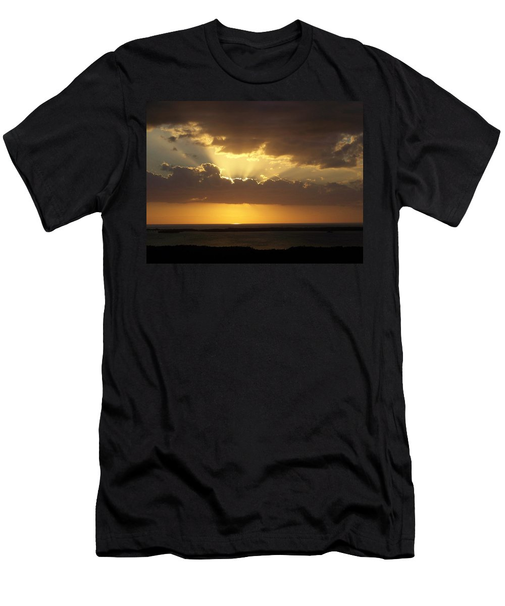 Sunset Men's T-Shirt (Athletic Fit) featuring the photograph Sunset 0024 by Laurie Paci