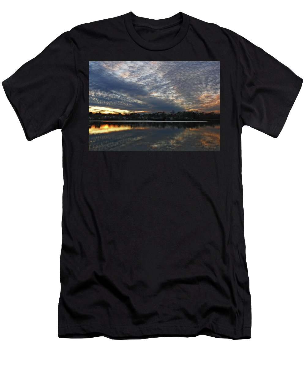 Sun Men's T-Shirt (Athletic Fit) featuring the photograph Sunset #23 by Alex Galkin