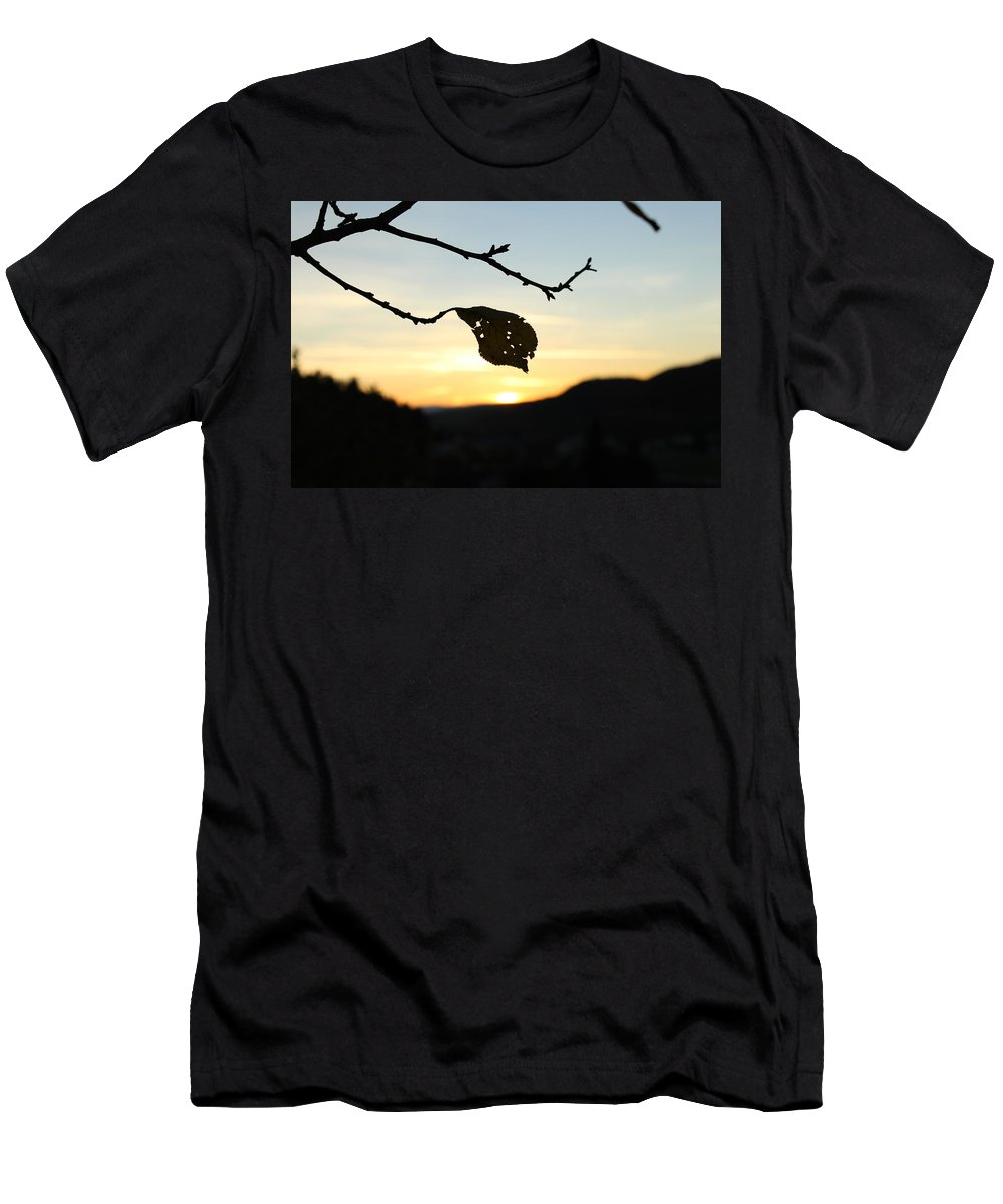Sunset Men's T-Shirt (Athletic Fit) featuring the photograph Sunset by Alena Madosova