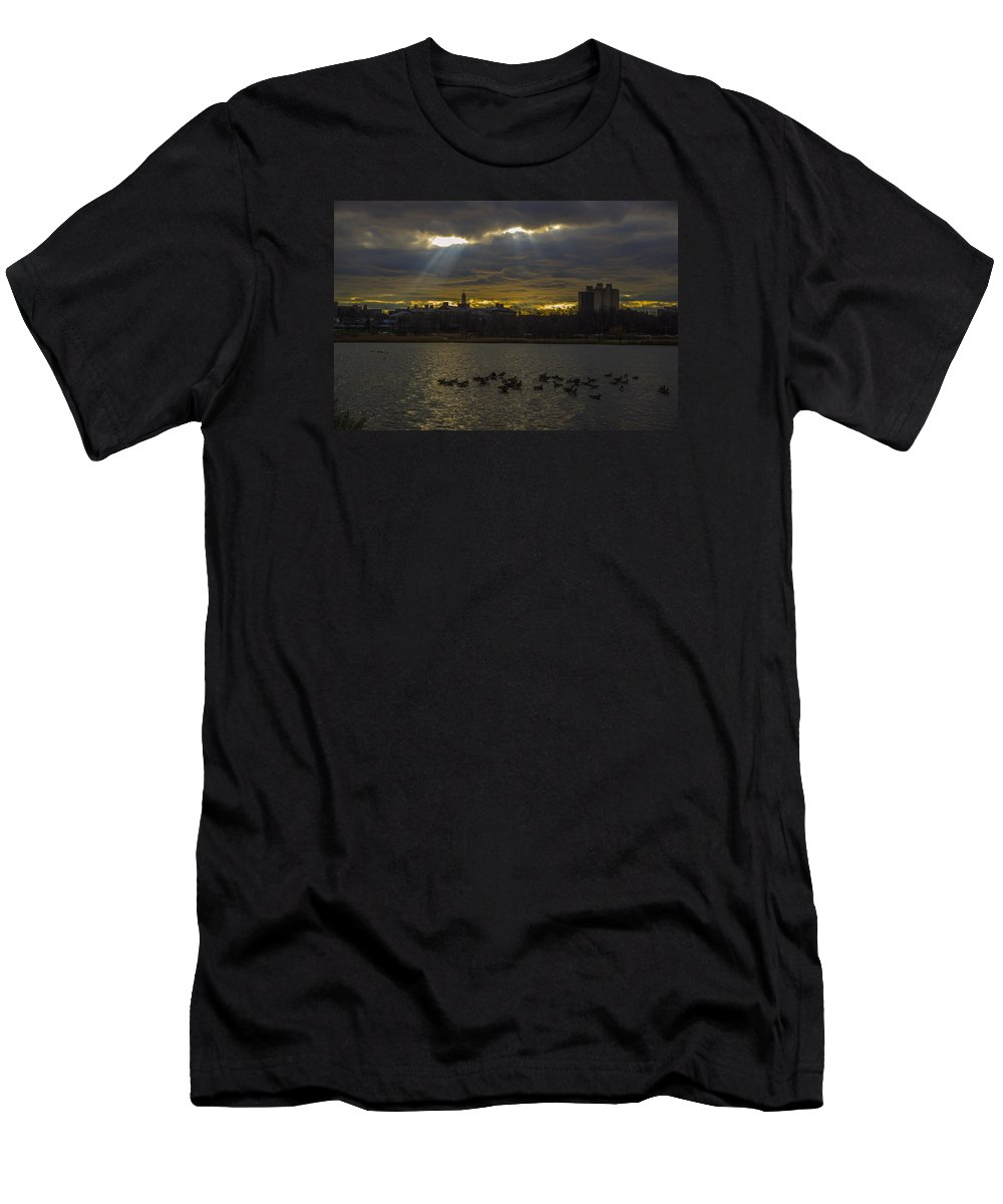 Sunset Men's T-Shirt (Athletic Fit) featuring the photograph Sunset by Alexander Fuza