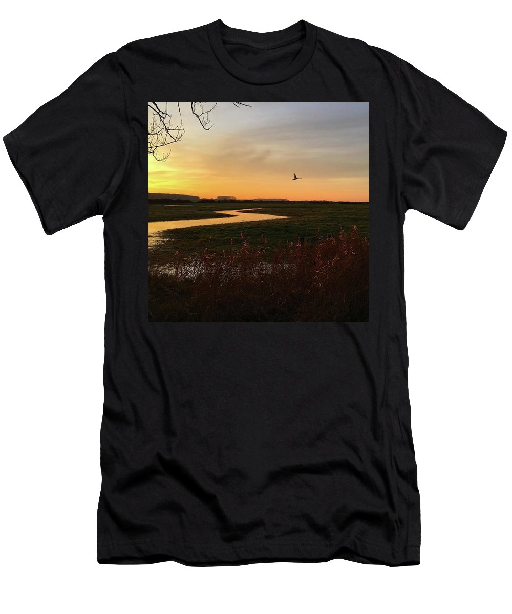 Natureonly T-Shirt featuring the photograph Sunset At Holkham Today  #landscape by John Edwards