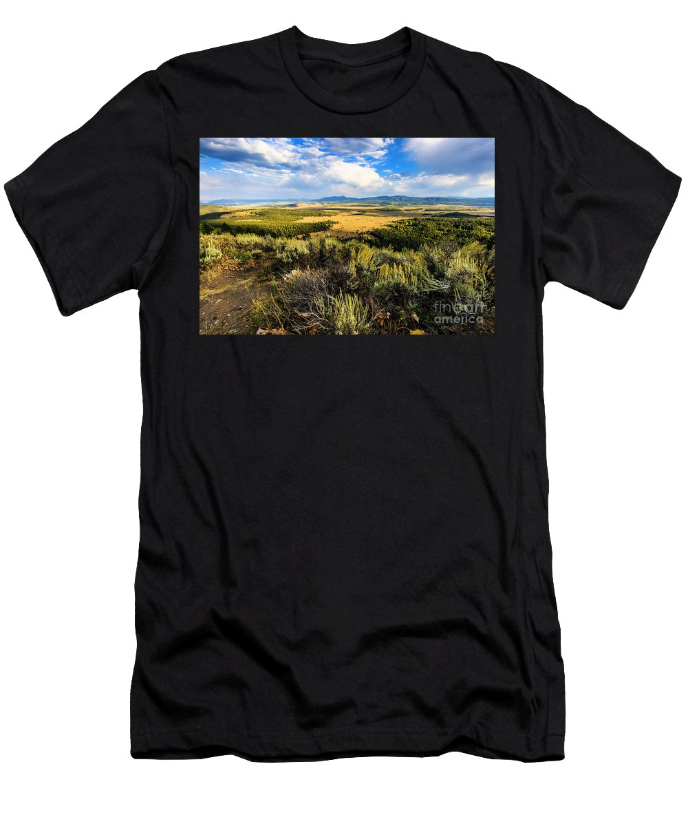 Wyoming Men's T-Shirt (Athletic Fit) featuring the photograph Sunset At Jackson Hole by Ben Graham