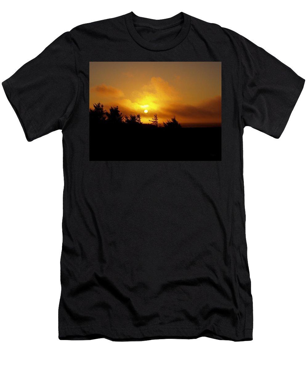 Sunset Men's T-Shirt (Athletic Fit) featuring the photograph Sunset by Deborah Crew-Johnson