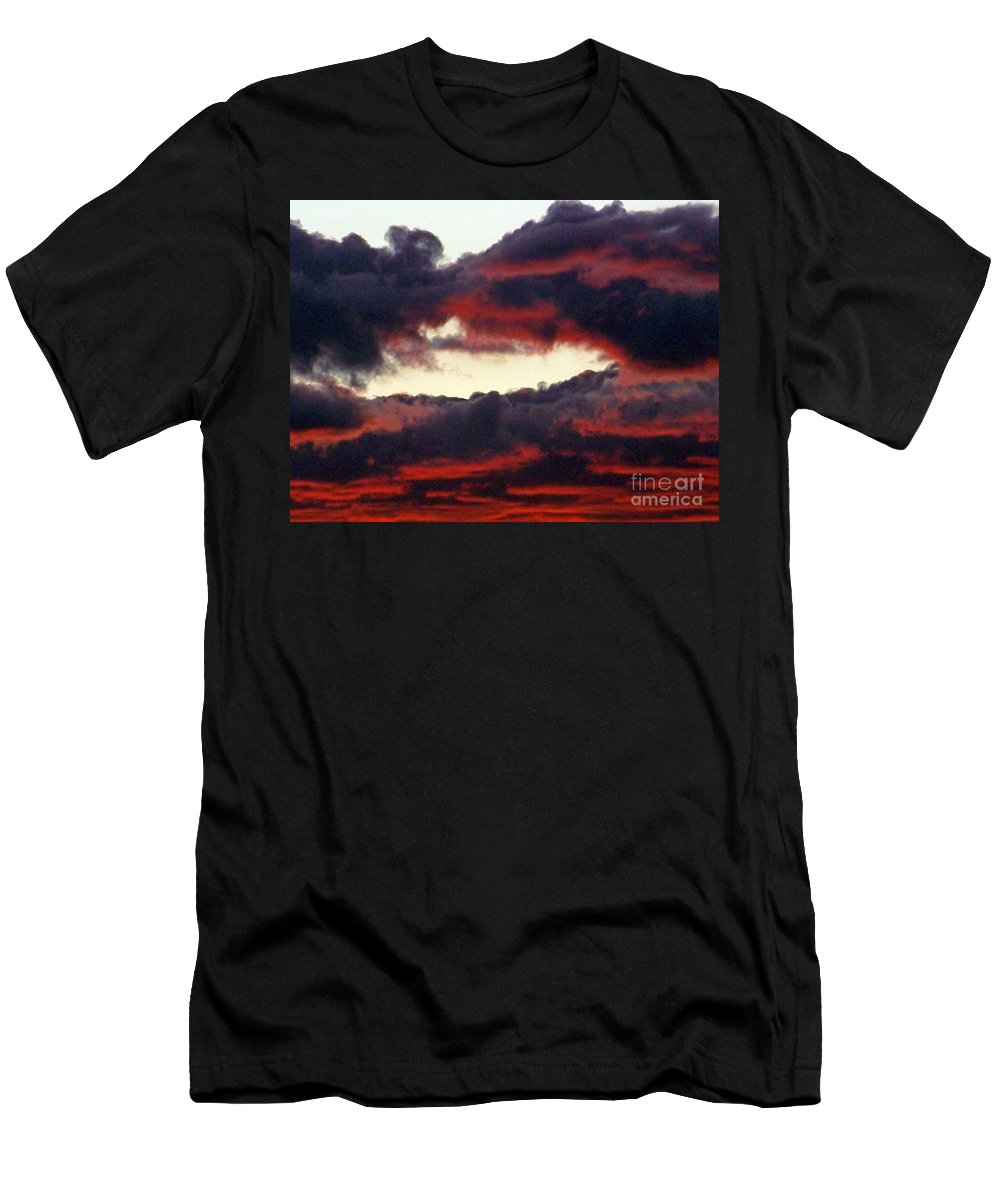Sunset Men's T-Shirt (Athletic Fit) featuring the photograph Sunset Formation by Brian Commerford
