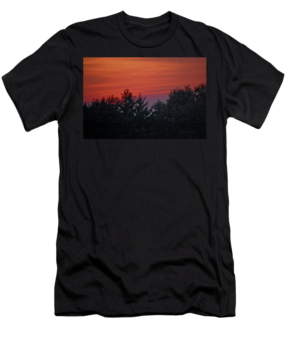 Sunset Men's T-Shirt (Athletic Fit) featuring the photograph Sunset From Bear Path by DigiArt Diaries by Vicky B Fuller